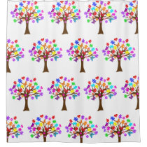 Autism Awareness Tree Shower Curtain