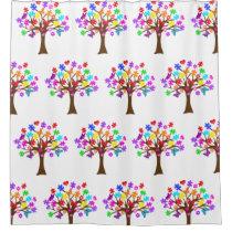 Autism Awareness Tree Shower Curtain