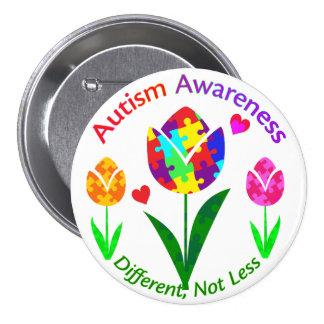 Autism Awareness Tulip Button
