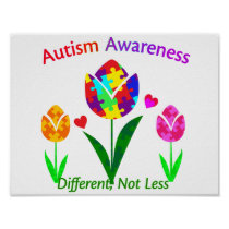 Autism Awareness Tulip Poster