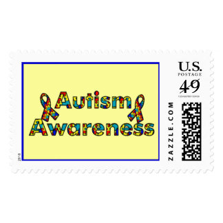 Autism Awareness - Two Ribbons Postage