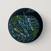 Autism Awareness Umbrella Products Dark Pinback Button
