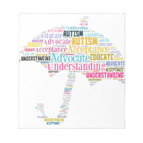 Autism Awareness Umbrella Products Notepad