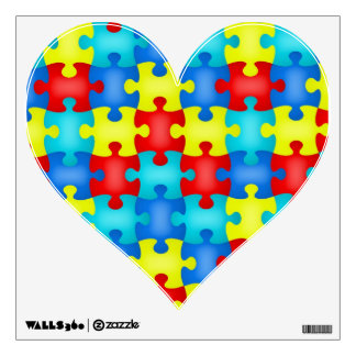 Autism Awareness Wall Decal Puzzle Pieces