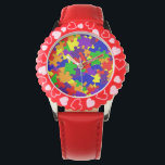 """Autism Awareness watch with Rainbow Puzzle Pieces<br><div class=""""desc"""">Honor your loved ones with this colorful watch. This item will start conversation and be a thoughtful reminder with a stylish look.</div>"""