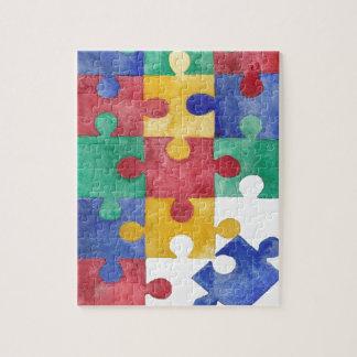 Autism Awareness watercolor puzzle