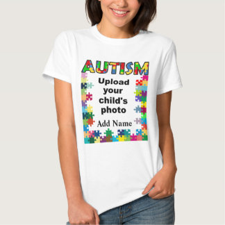 Autism Awareness Womens Puzzle Frame Customize T-Shirt