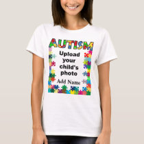 Autism Awareness Womens Puzzle Frame Customize T-Shirt