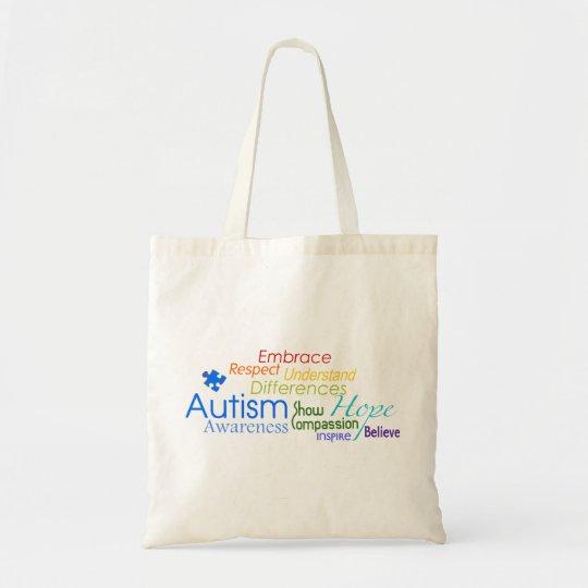 Autism Awareness Word Art Tote Bag