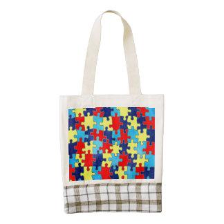 Autism Awareness Zazzle HEART Tote Bag