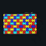 """Autism Awarenss Coin Wallet<br><div class=""""desc"""">This beautiful puzzle piece coin purse/ clutch is perfect for all of us Autism Moms!</div>"""