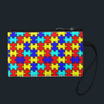 "Autism Awarenss Coin Wallet<br><div class=""desc"">This beautiful puzzle piece coin purse/ clutch is perfect for all of us Autism Moms!</div>"