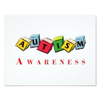 "Autism Awaress 4.25"" X 5.5"" Invitation Card"