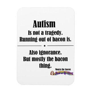 autism bacon tragedy car magnet