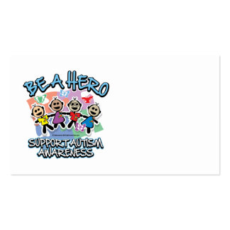 Autism Be A Hero Business Card Templates