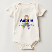 Autism be aware be understanding baby bodysuit