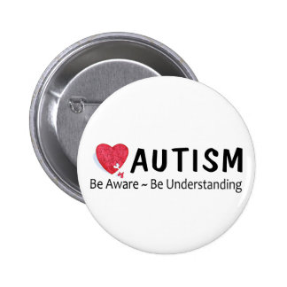 Autism Be Aware Be Understanding Button