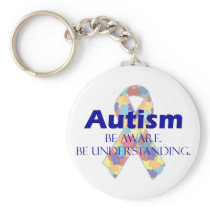 Autism be aware be understanding keychain