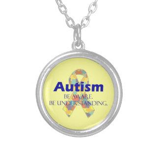 Autism be aware be understanding necklace