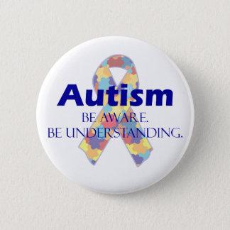 Autism be aware be understanding pinback button