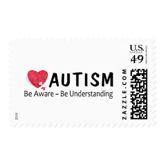Autism Be Aware Be Understanding Postage