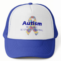 Autism be aware be understanding trucker hat