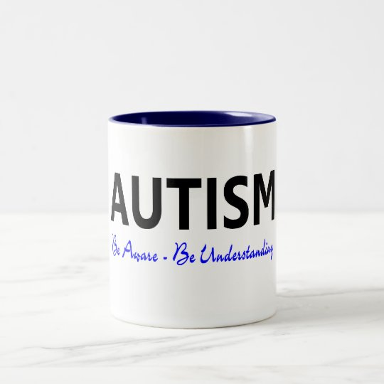 Autism Be Aware Be Understanding Two-Tone Coffee Mug