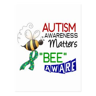 Autism BEE AWARE 1 Postcard