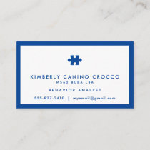 Autism Behavior Analyst Business Card