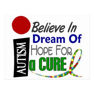 Autism BELIEVE DREAM HOPE Postcard