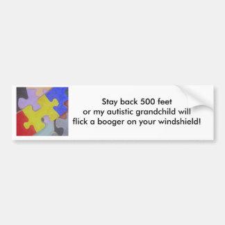 Autism booger 2 car bumper sticker