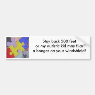 Autism Booger Car Bumper Sticker