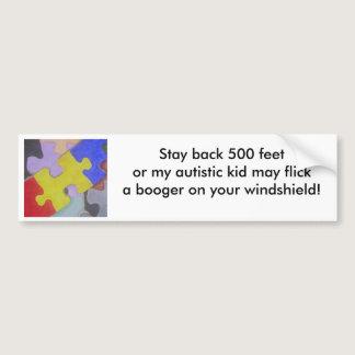 Autism Booger Bumper Sticker