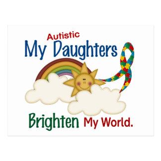 Autism BRIGHTEN MY WORLD 1 Daughters Postcard