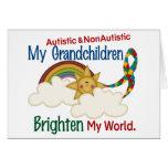 Autism BRIGHTEN MY WORLD 1 Grandchildren 2 Card
