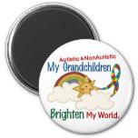 Autism BRIGHTEN MY WORLD 1 Grandchildren 2 Refrigerator Magnets