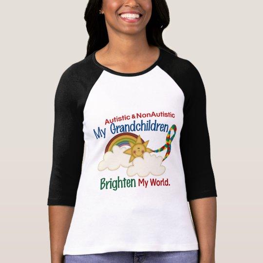 Autism BRIGHTEN MY WORLD 1 Grandchildren 2 T-Shirt