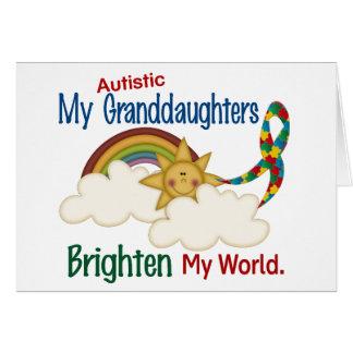 Autism BRIGHTEN MY WORLD 1 Granddaughters Card