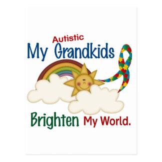 Autism BRIGHTEN MY WORLD 1 Grandkids Postcard