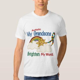 Autism BRIGHTEN MY WORLD 1 Grandsons T Shirt