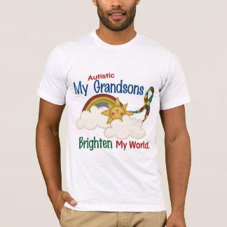 Autism BRIGHTEN MY WORLD 1 Grandsons T-Shirt