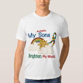 Autism BRIGHTEN MY WORLD 1 Sons T-shirt