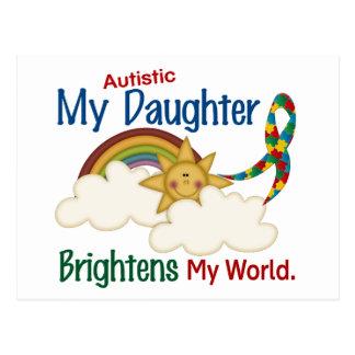 Autism BRIGHTENS MY WORLD 1 Daughter Postcard