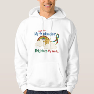 Autism BRIGHTENS MY WORLD 1 Granddaughter Hooded Pullover