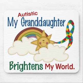 Autism BRIGHTENS MY WORLD 1 Granddaughter Mouse Pad