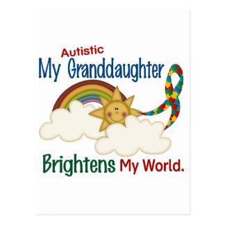 Autism BRIGHTENS MY WORLD 1 Granddaughter Postcard