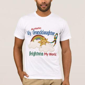 Autism BRIGHTENS MY WORLD 1 Granddaughter T-Shirt