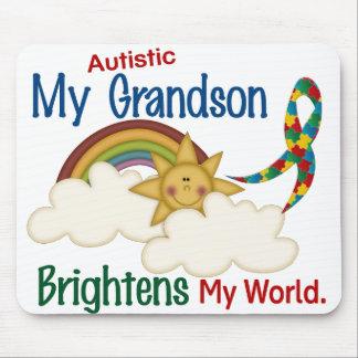 Autism BRIGHTENS MY WORLD 1 Grandson Mouse Mat