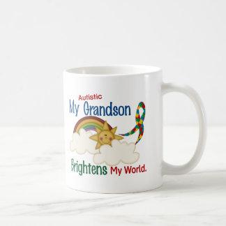 Autism BRIGHTENS MY WORLD 1 Grandson Mug