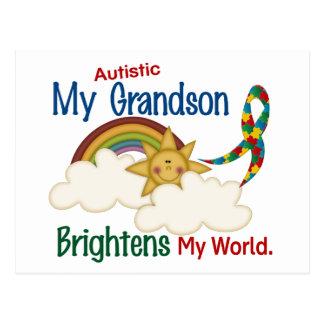 Autism BRIGHTENS MY WORLD 1 Grandson Postcard